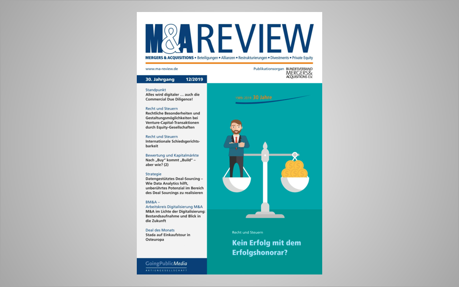 M&A REVIEW ARTIKEL: ALLES WIRD DIGITALER … AUCH DIE COMMERCIAL DUE DILIGENCE!