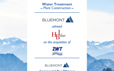 BLUEMONT SUCCESSFULLY ADVISED HBL ON ITS ACQUISITION OF ZWT WASSER- & ABWASSERTECHNIK WITH A CDD