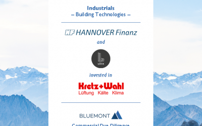 BLUEMONT ADVISED HANNOVER FINANZ & LÜCK INVEST ON ITS ACQUISITON OF KRETZ + WAHL WITH A CDD