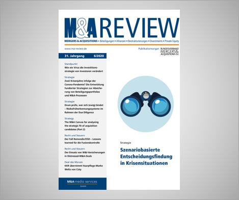 NEUER M&A REVIEW ARTIKEL:  WIE EIN VIRUS DIE INVESTIONSSTRATEGIE VON INVESTOREN VERÄNDERT