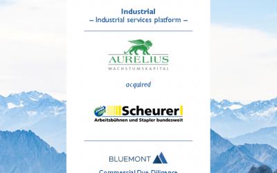 Bluemont unterstützt AURELIUS Wachstumskapital bei dem Erwerb der Ferdinand Scheurer GmbH mit einer CDD