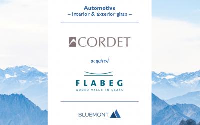 Bluemont berät beim Verkauf des Automobilzulieferers FLABEG an CORDET im Rahmen der Due Diligence