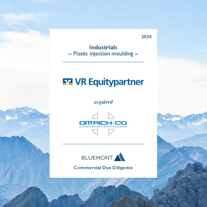 Bluemont unterstützt VR Equitypartner bei der Beteiligung an dem Kunststoffspritzguss Spezialisten DITTRICH + CO