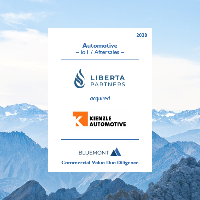 Bluemont unterstützt Liberta Partners bei der Übernahme der KIENZLE Automotive GmbH mit Commercial Value Due Diligence