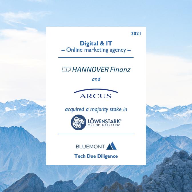 Bluemont unterstützt die HANNOVER Finanz Gruppe und ARCUS Capital mit einer Tech Due Diligence